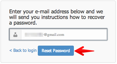 Step two: Reset password