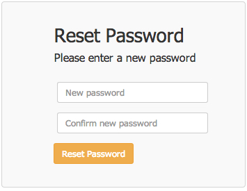 Reset my password form
